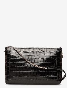 Joyce shoulder bag - skuldervesker - croco black