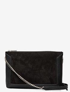 Joyce shoulder bag - schultertaschen - suede black