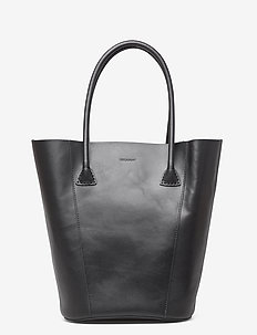 Gia bucket tote - fashion shoppers - black