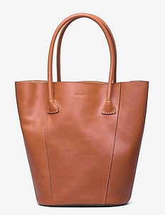 Gia bucket tote - fashion shoppers - cognac