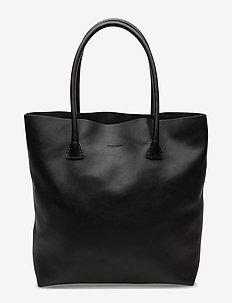 Plain tote - fashion shoppers - black