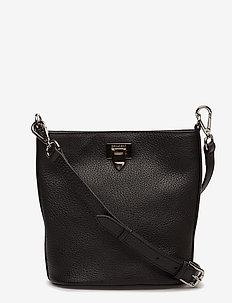 Small bucket bag w/buckle - BLACK