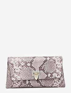Nora small clutch w/buckle - clutches - snake