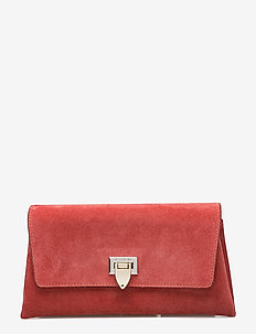 Nora small clutch w/buckle - clutches - suede blossom