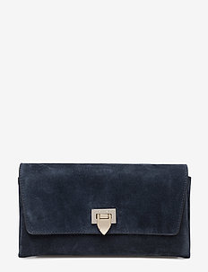 Small clutch w/buckle - SUEDE NAVY