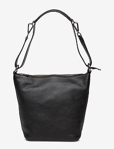 Small shoulder bag with two way strap - bucket-laukut - black