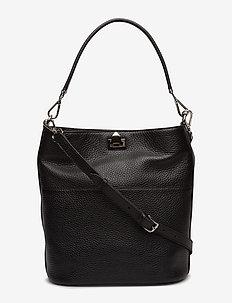 Big bucket bag w/buckle - BLACK