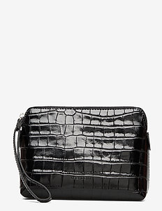 Hannah makeup purse - clutches - croco black