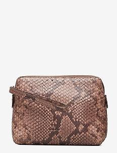 Hannah makeup purse - SNAKE NOUGAT