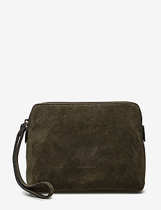 Hannah makeup purse - SUEDE ARMY