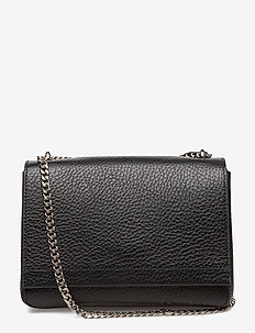 Small clutch with double chain - skuldertasker - black