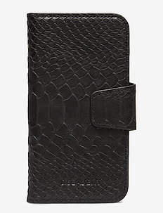Lea iPhone X/Xs flip cover - ANACONDA BLACK