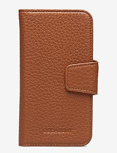 Lea iPhone X/Xs flip cover - mobile accessories - cognac