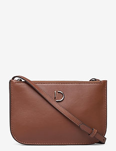 Marcia small double bag - torby na ramię - nappa cognac