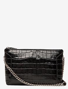 Anna small shoulder bag - skuldervesker - croco black
