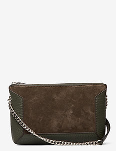 Anna small shoulder bag - torby na ramię - suede army