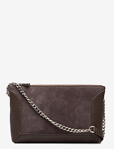 Anna small shoulder bag - torby na ramię - suede mocha