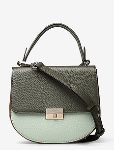 June small top handle - shoulder bags - army/mint green/cognac