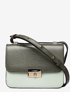 Rhea small cross-body bag - shoulder bags - army/mint green/cognac