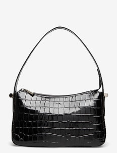 Janine baguette bag - axelremsväskor - croco black