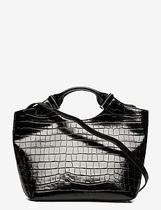 Teddy tote - handtassen - croco black