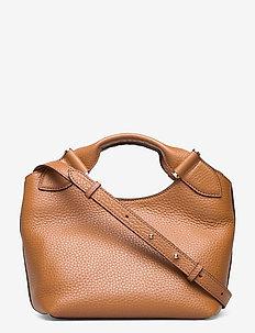 Minna small tote - handväskor - cognac