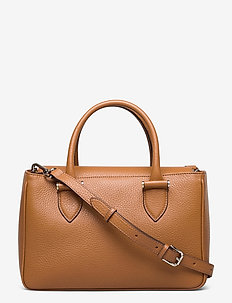 Olivia big handbag - handväskor - cognac
