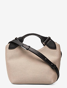 Mille small canvas tote - handtassen - black