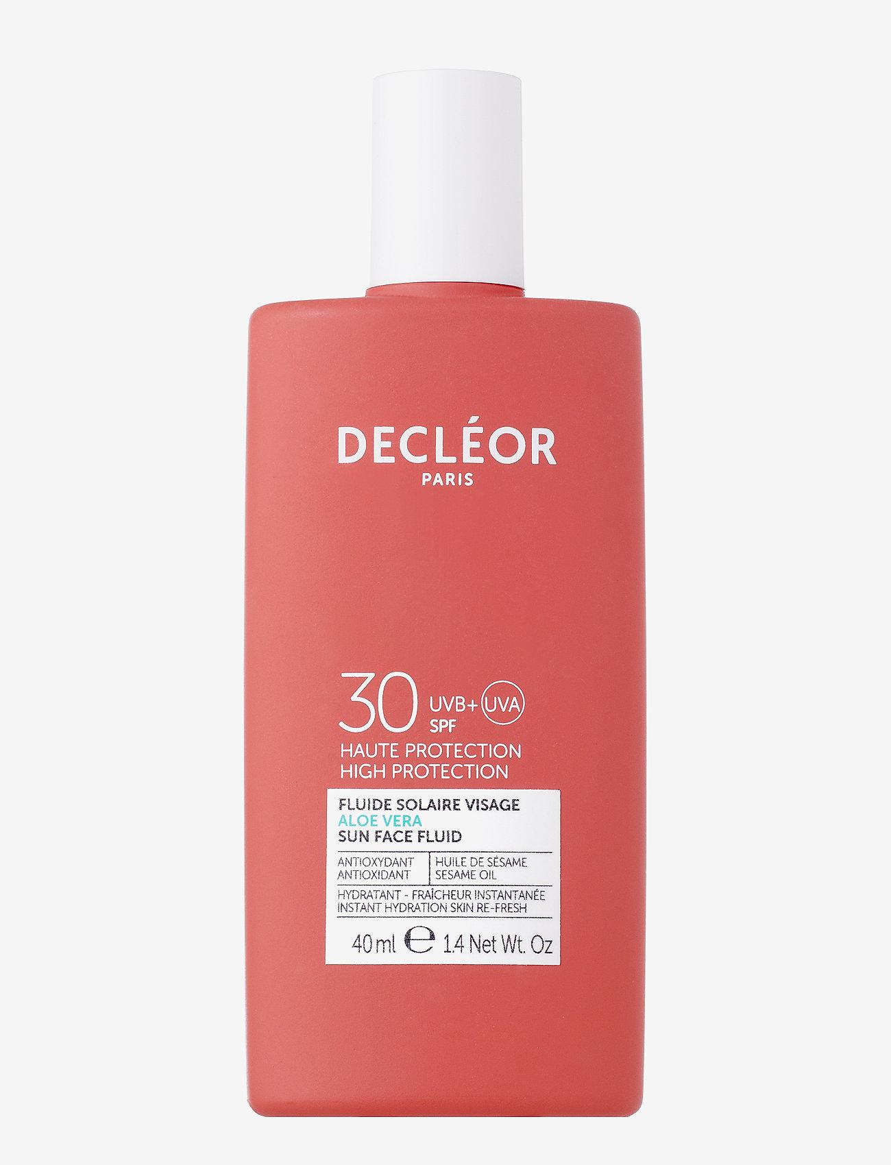 Decléor - ALOE VERA SUN FACE FLUID SPF 30 - ansigt - clear - 0