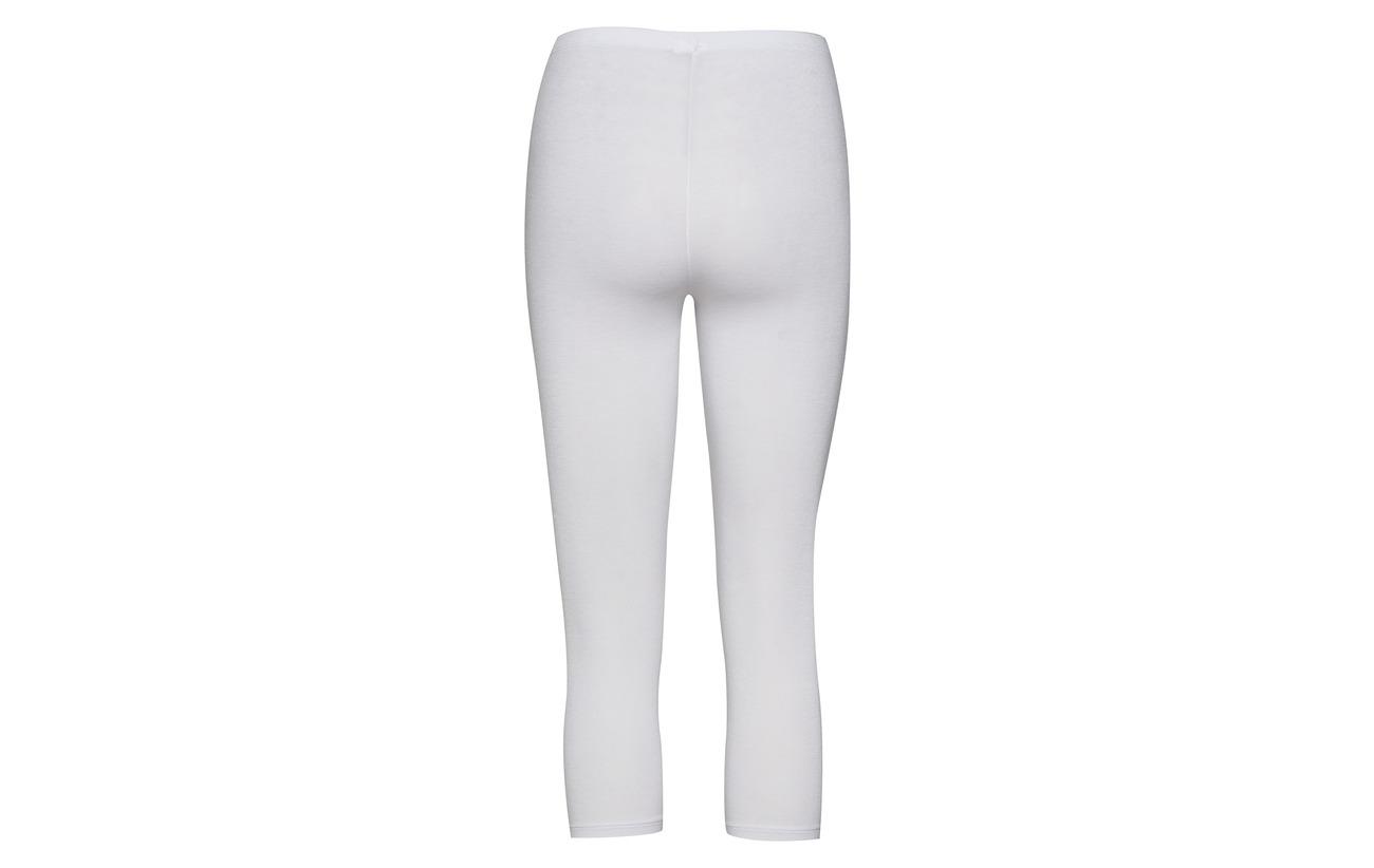 White Stretch Capri Elastane Jersey 5 Viscose Decoy Leggings 95 aOngxWU