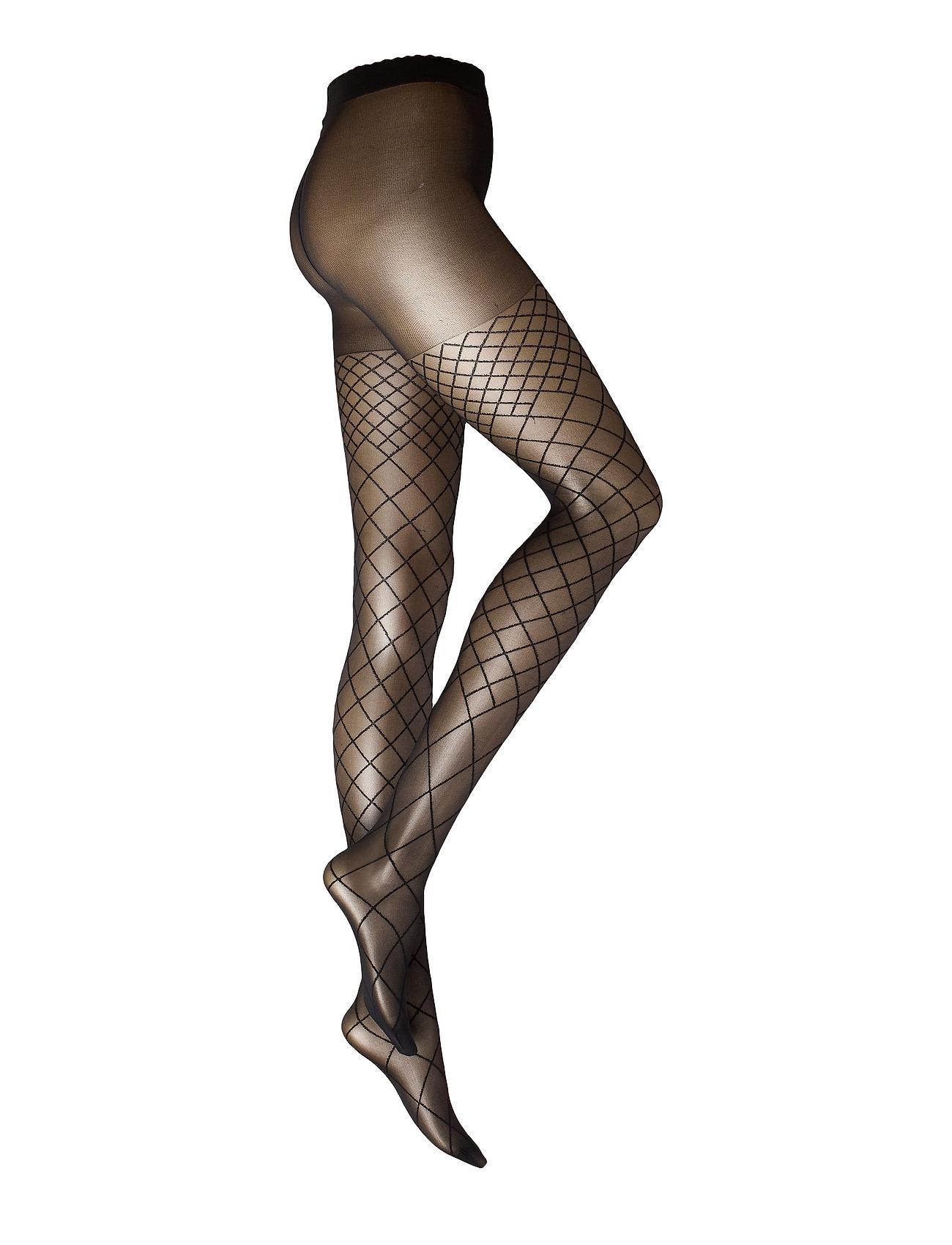 Decoy DECOY tights w/diamonds 30 den - BLACK