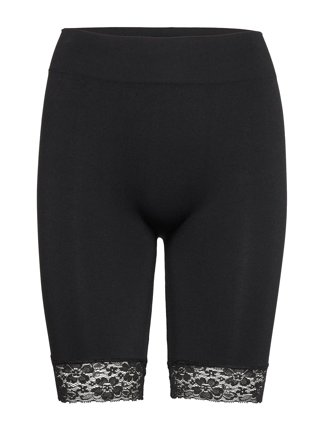 Decoy DECOY long shorts w/lace - BLACK