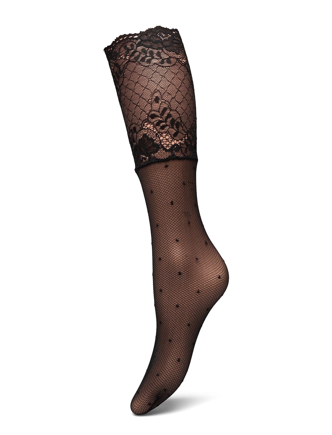 Decoy DECOY ankle sock net w/dots 20 - BLACK