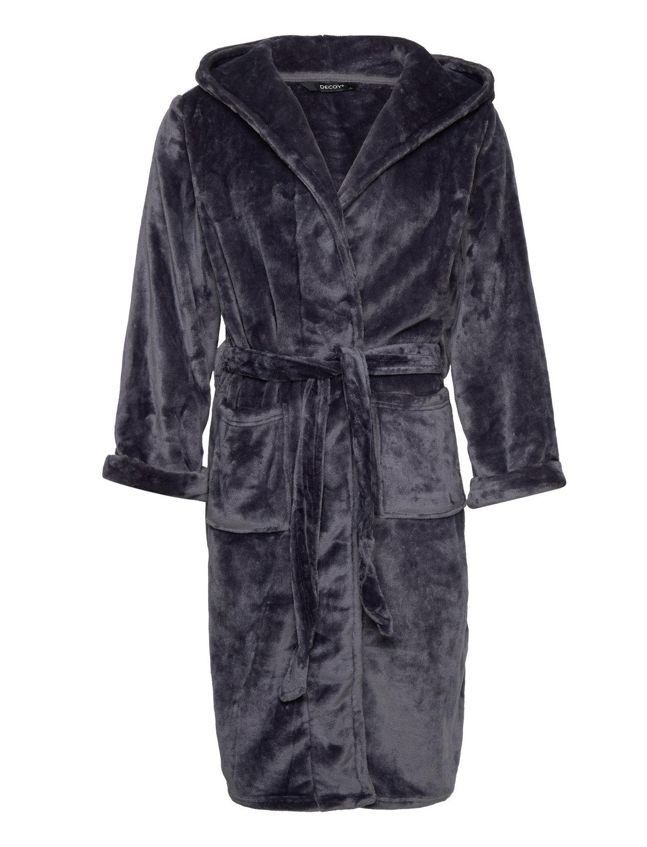 Decoy Long Robe W/Hood Morgenkåbe Blå Decoy
