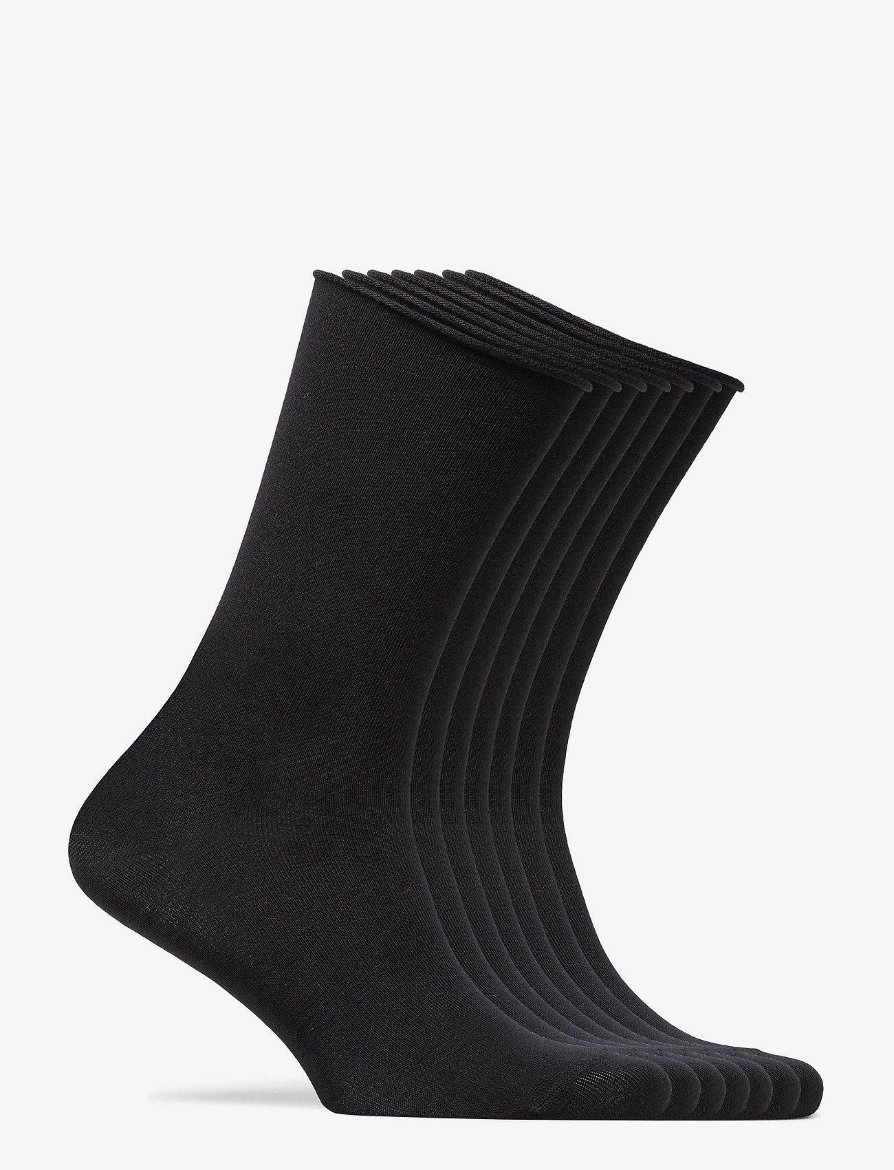Decoy - DECOY socks org.cotton 7pk - chaussettes régulières - svart - 13