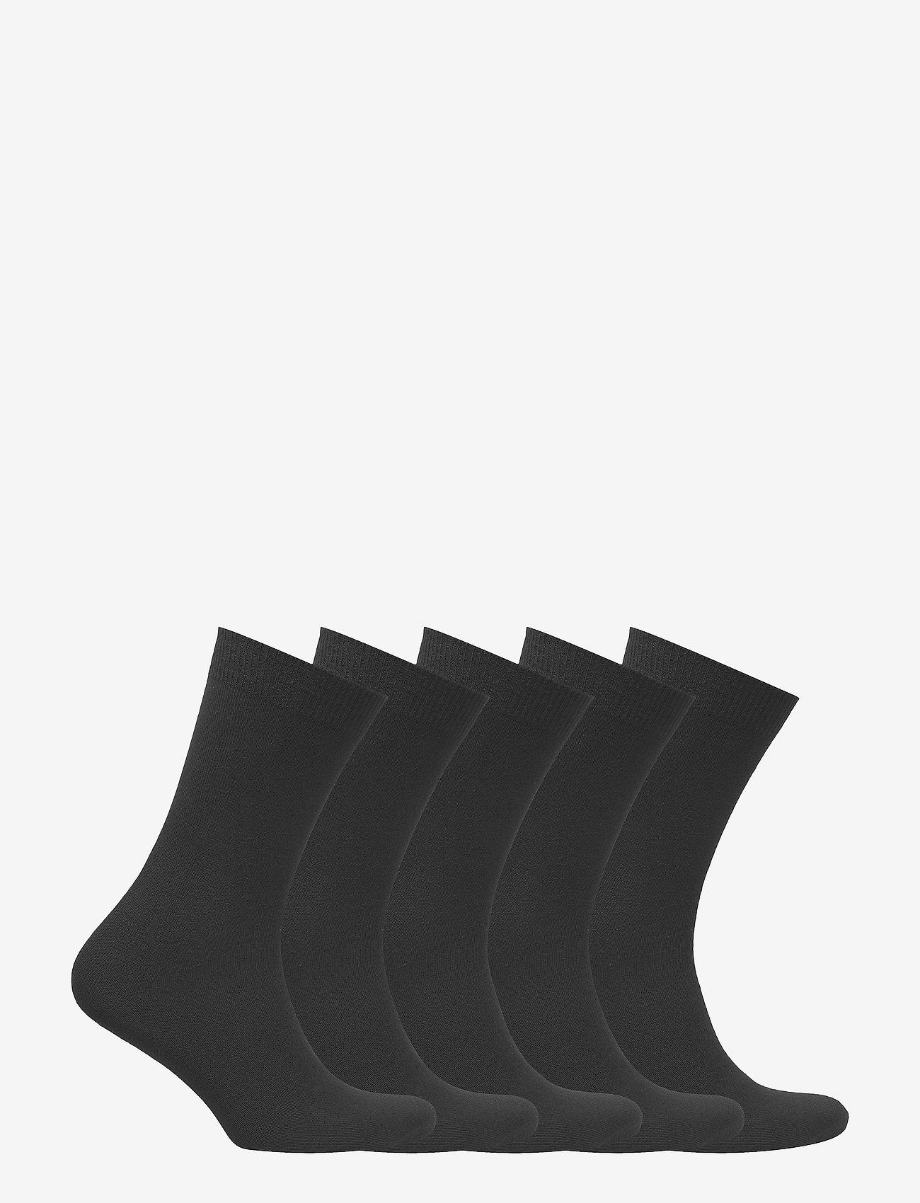 Decoy - DECOY ankle sock cotton 5-pk - socks - black