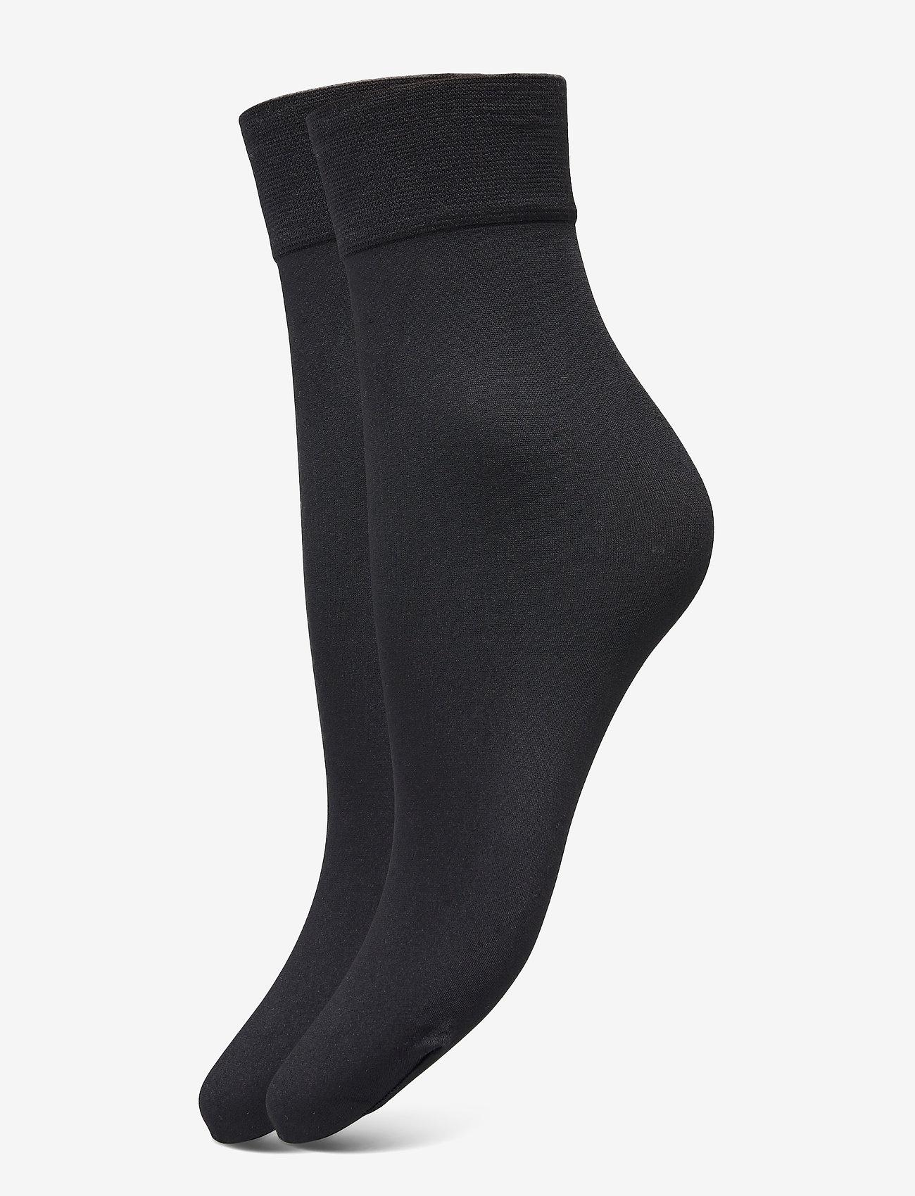 Decoy - DECOY ankle sock micro 2-pk 60 - chaussettes sport - svart - 0