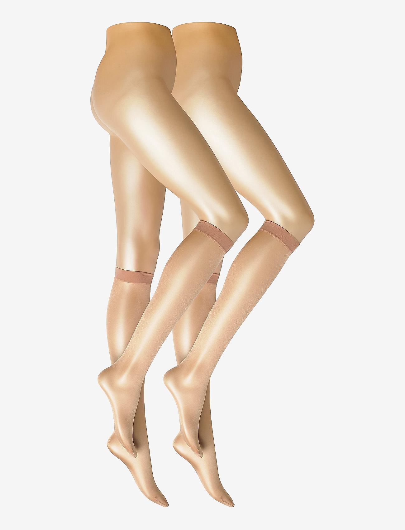 Decoy - DECOY knee high glossy 2-pk 20 - kniekousen - golden - 0