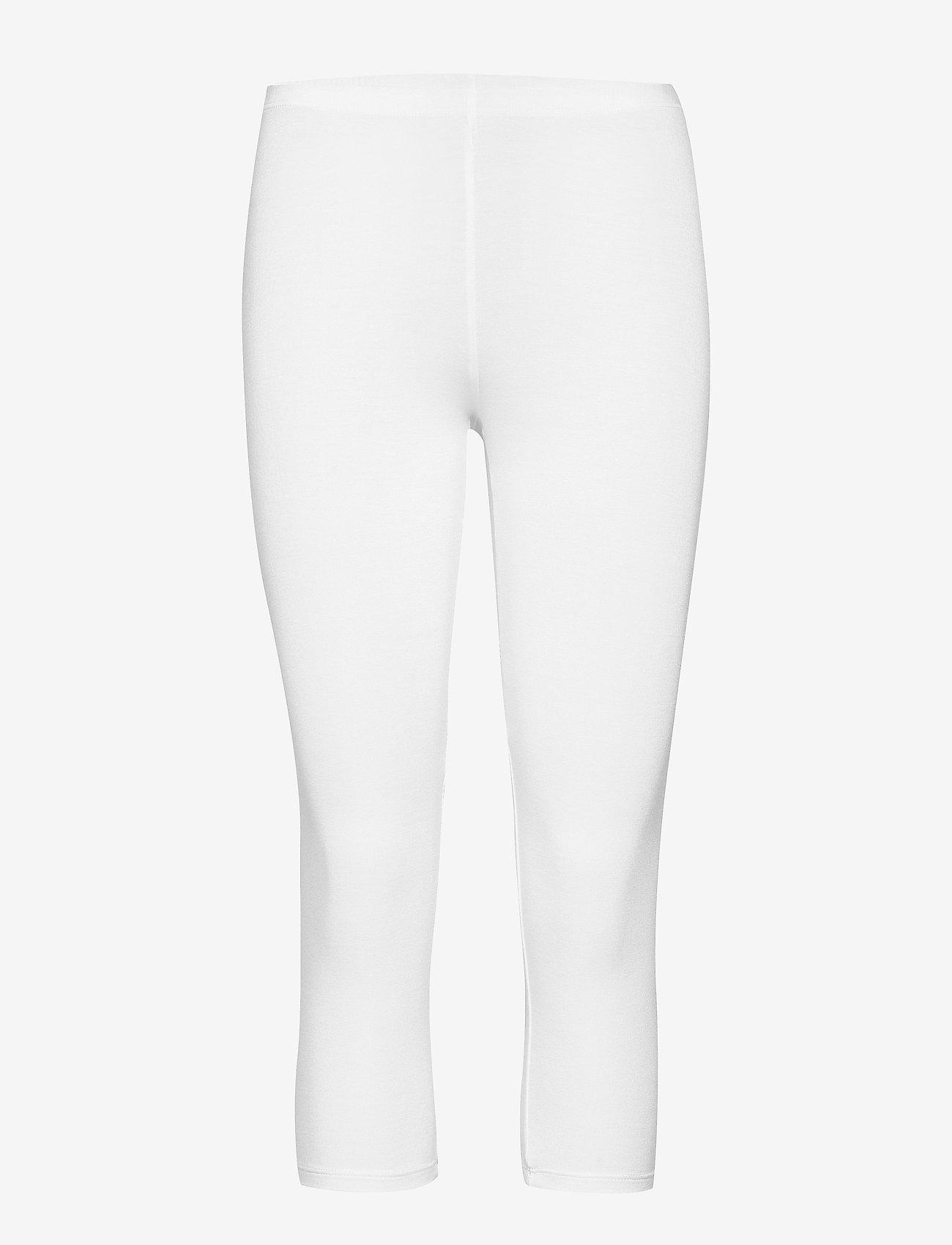 Decoy - DECOY capri viscose stretch - leggings - white - 0