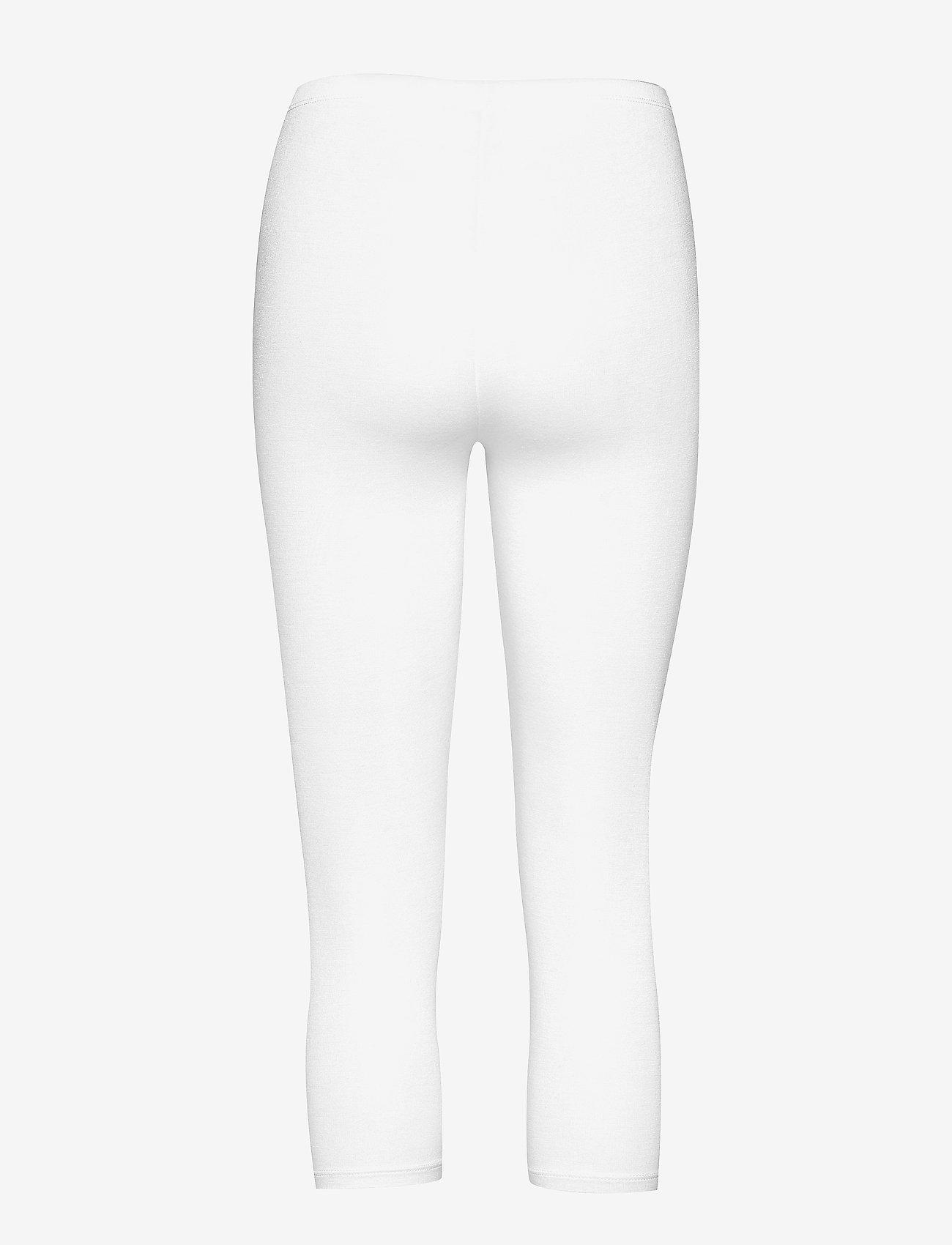 Decoy - DECOY capri viscose stretch - leggings - white - 1