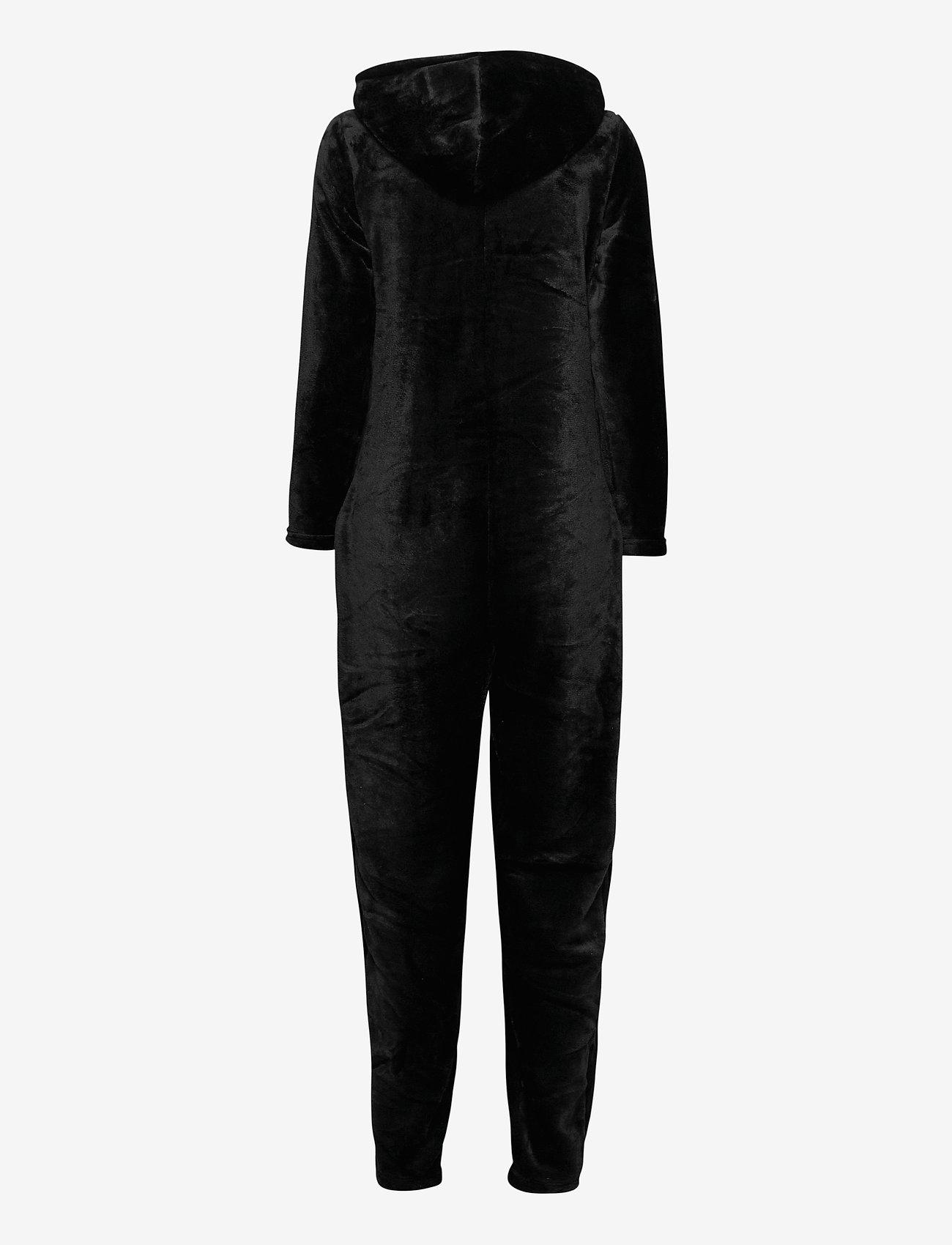 Decoy - DECOY onepiece w/hood, zipper - pyjama''s - svart - 1