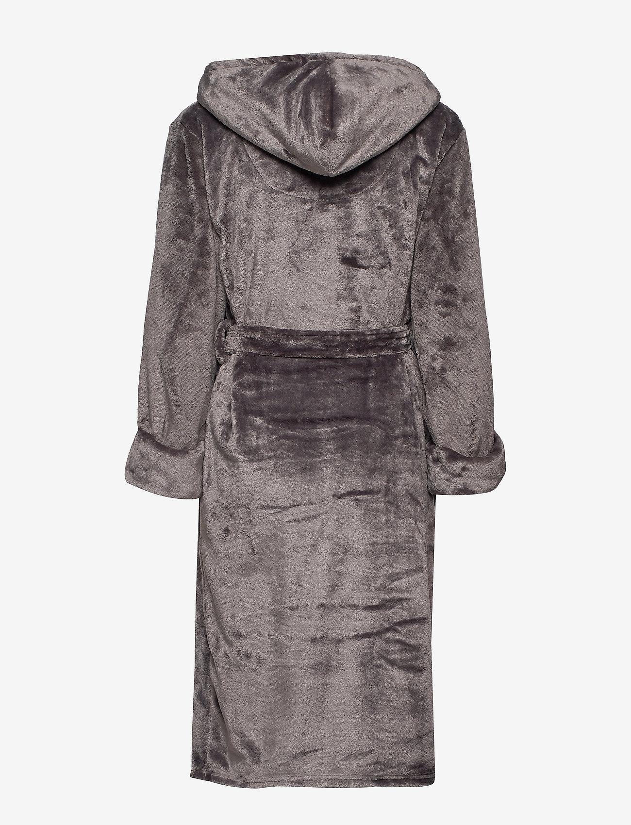 Decoy - DECOY long robe w/hood - bathrobes - asphalt - 1