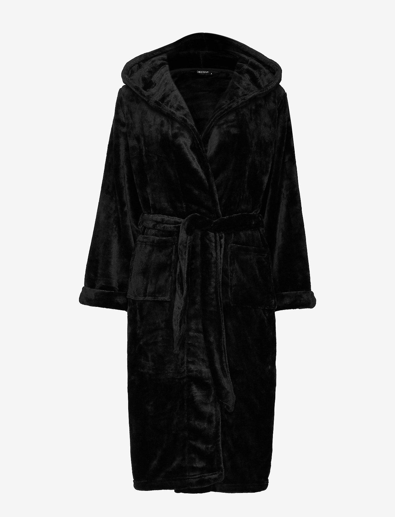 Decoy - DECOY long robe w/hood - bathrobes - black - 0