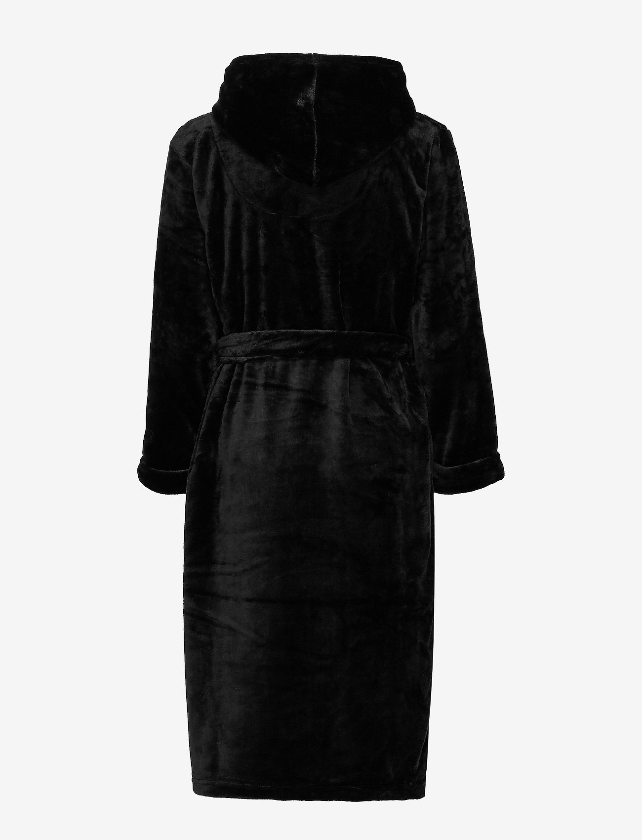 Decoy - DECOY long robe w/hood - bathrobes - black - 1