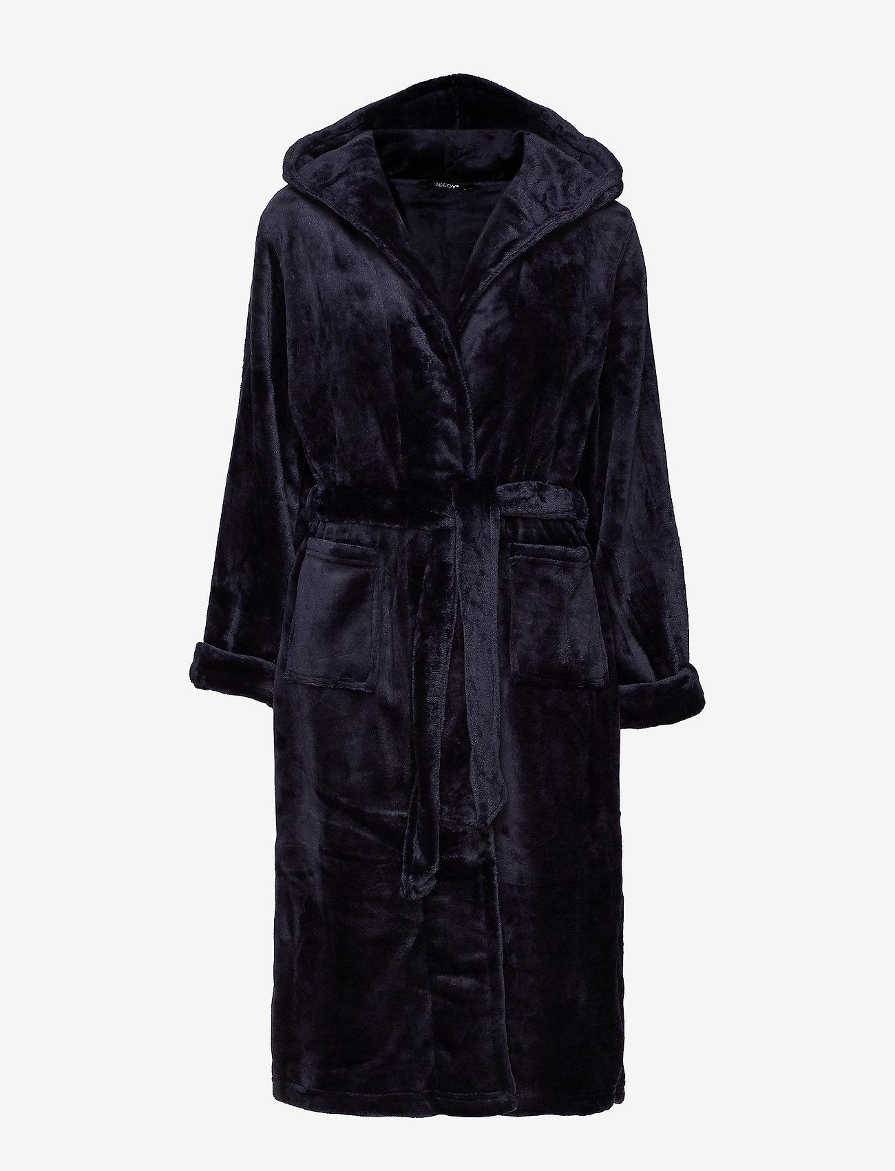 Decoy - DECOY long robe w/hood - bathrobes - navy - 0