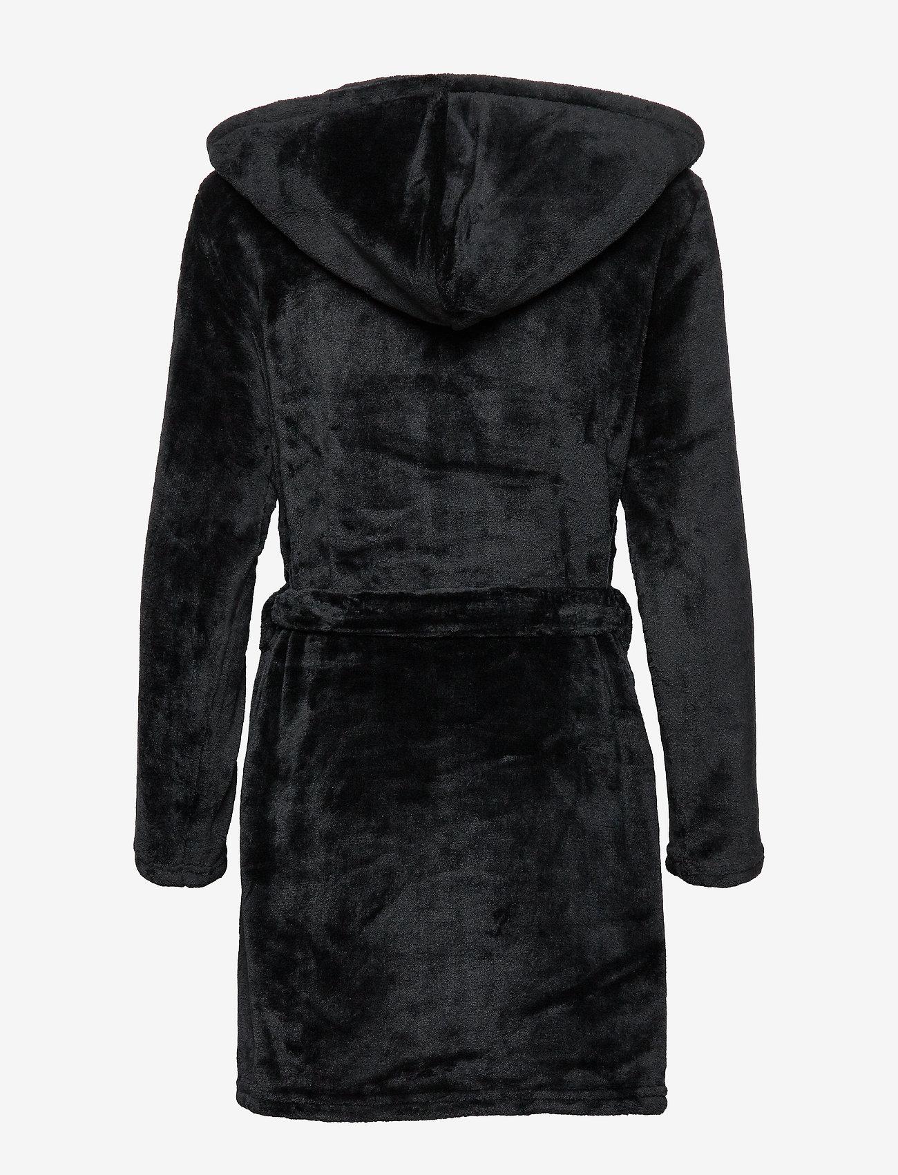 Decoy - DECOY short robe w/hood - bathrobes - black - 1
