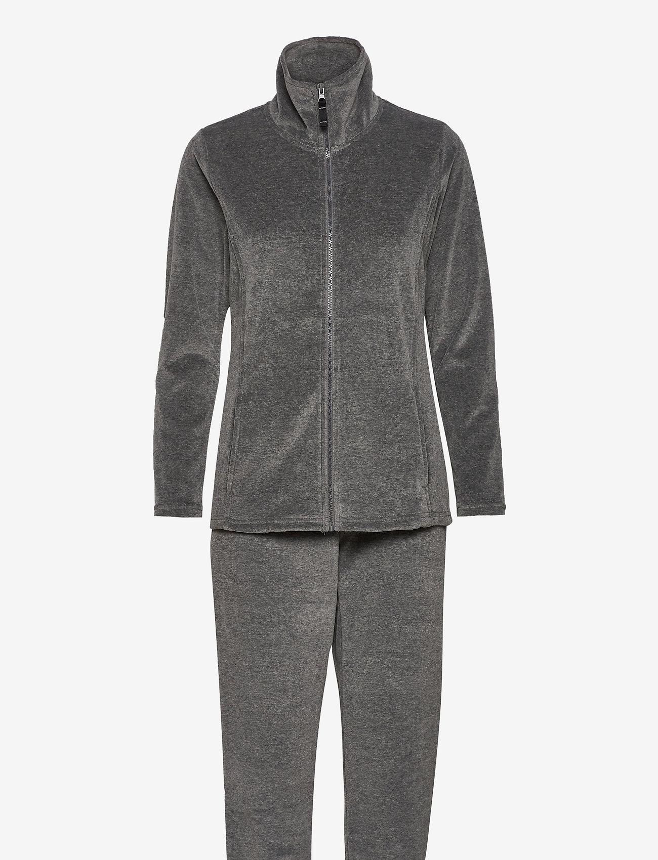 Decoy - DECOY velour homewear set - pyjama''s - grå - 0