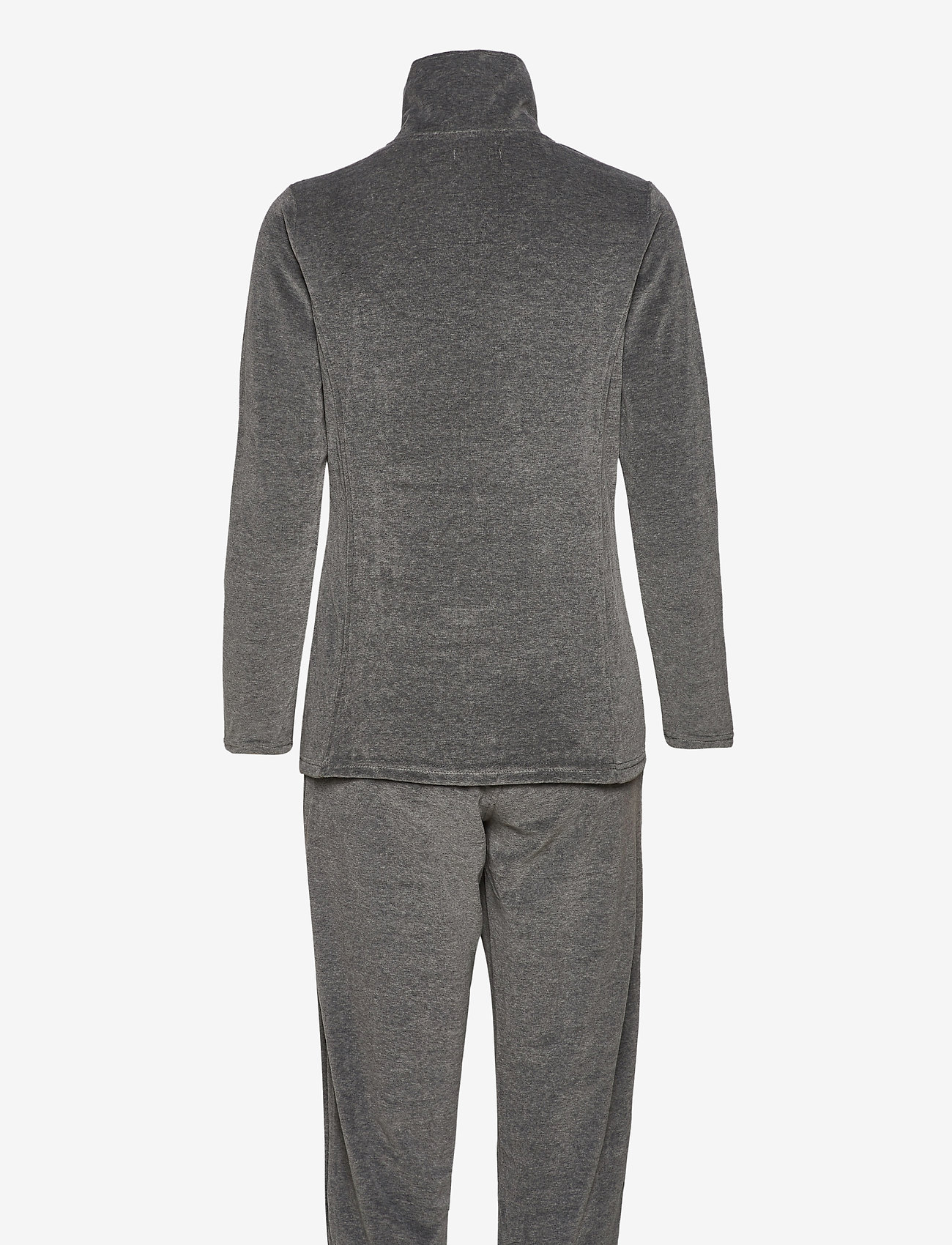Decoy - DECOY velour homewear set - pyjama''s - grå - 1