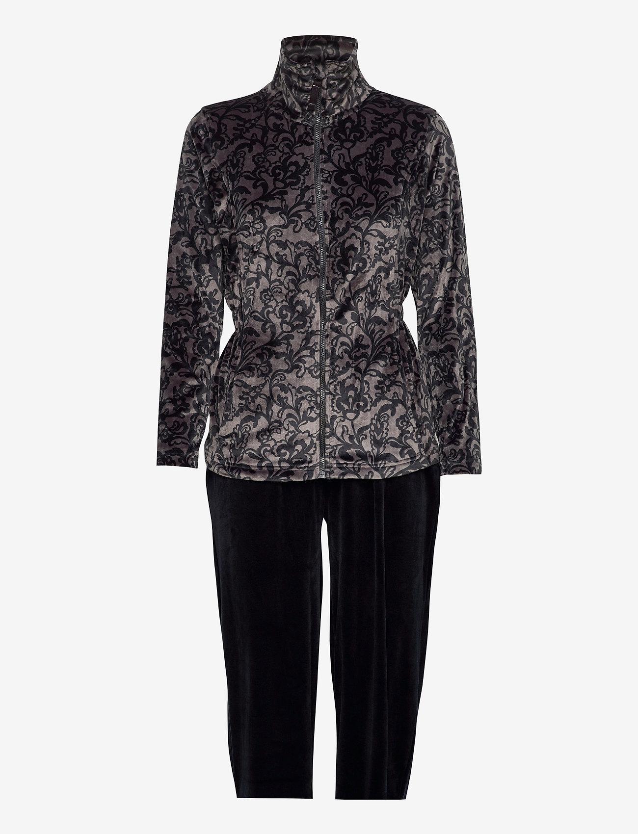 Decoy - DECOY velour homewear set - pyjama''s - asphalt/bl - 0