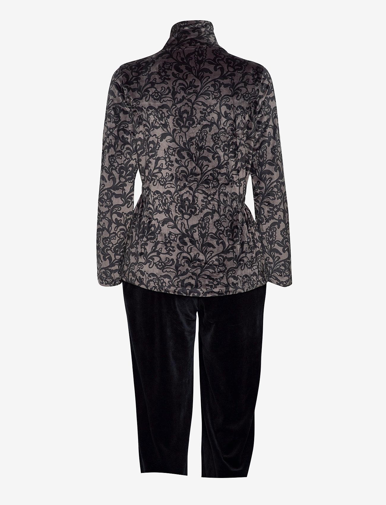 Decoy - DECOY velour homewear set - pyjama''s - asphalt/bl - 1